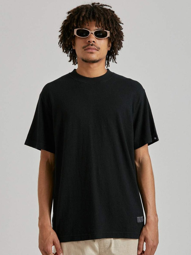 Afends - Classic Hemp Retro Fit Tee in Black