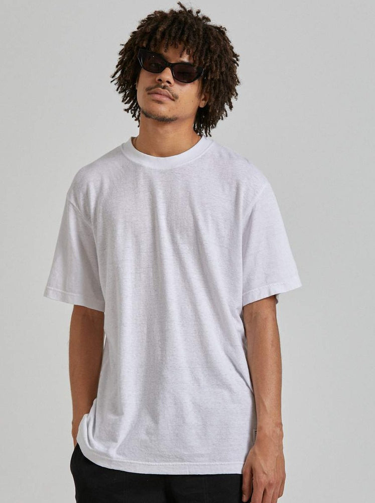 Afends - Classic Hemp Retro Fit Tee in White