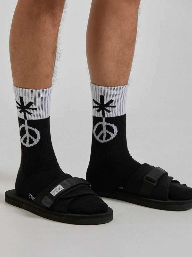 Afends - Flower To The People Hemp Socks in Black