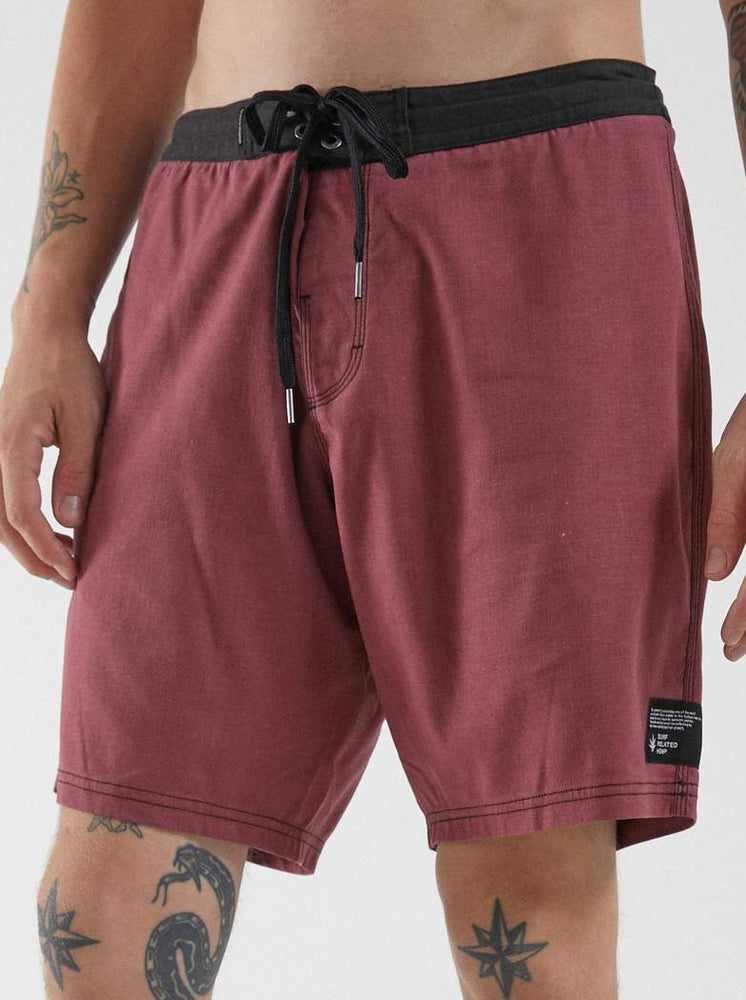 Afends - Surf Related - Hemp Fixed Waist Boardshort in Redwood