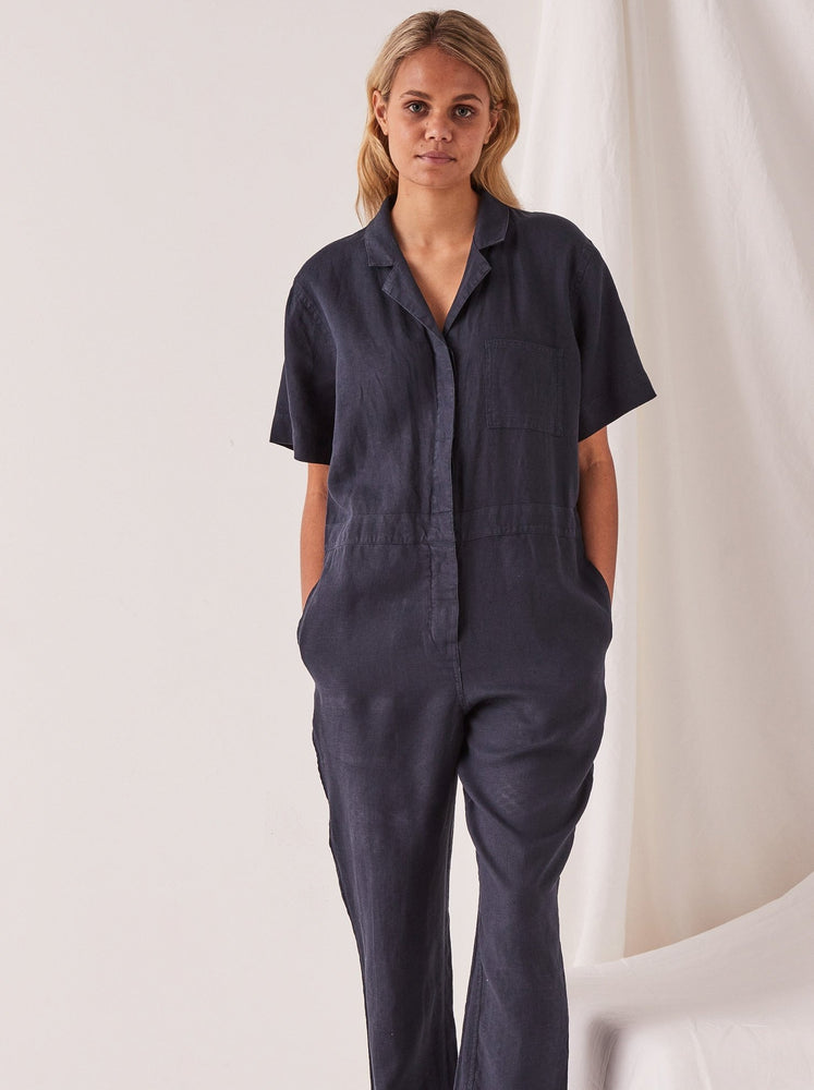 Assembly - Blair Linen Boilersuit in True Navy