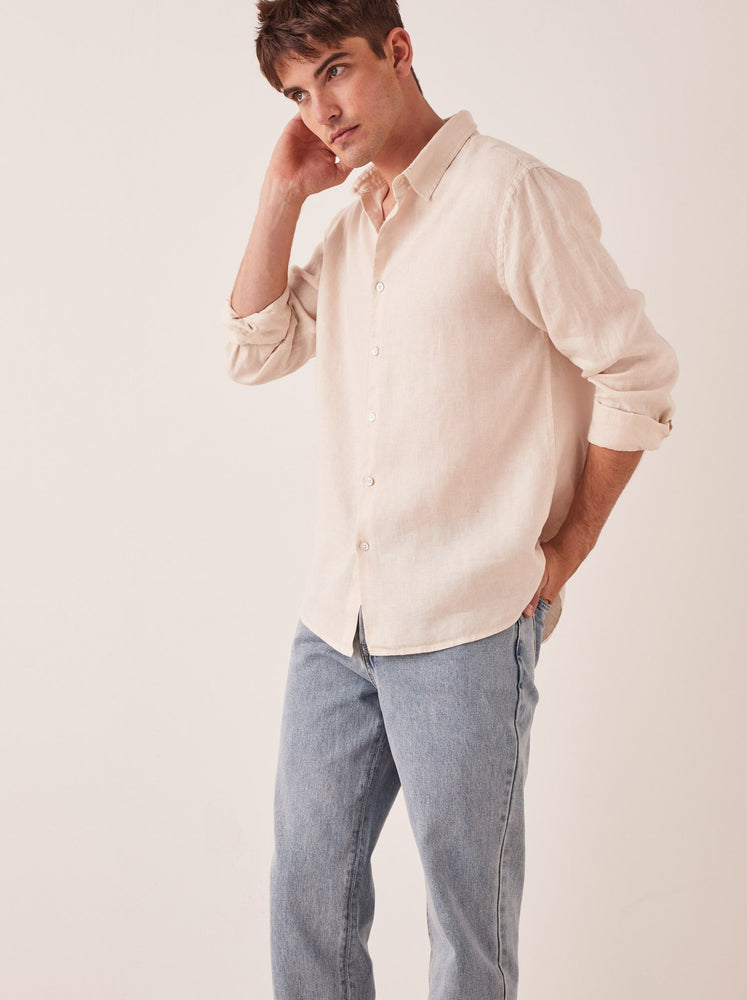 Assembly - Casual Long Sleeve Shirt in Ivory