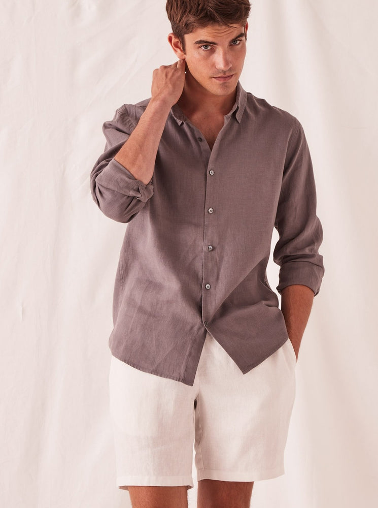 Assembly - Casual Long Sleeve Shirt in Sable