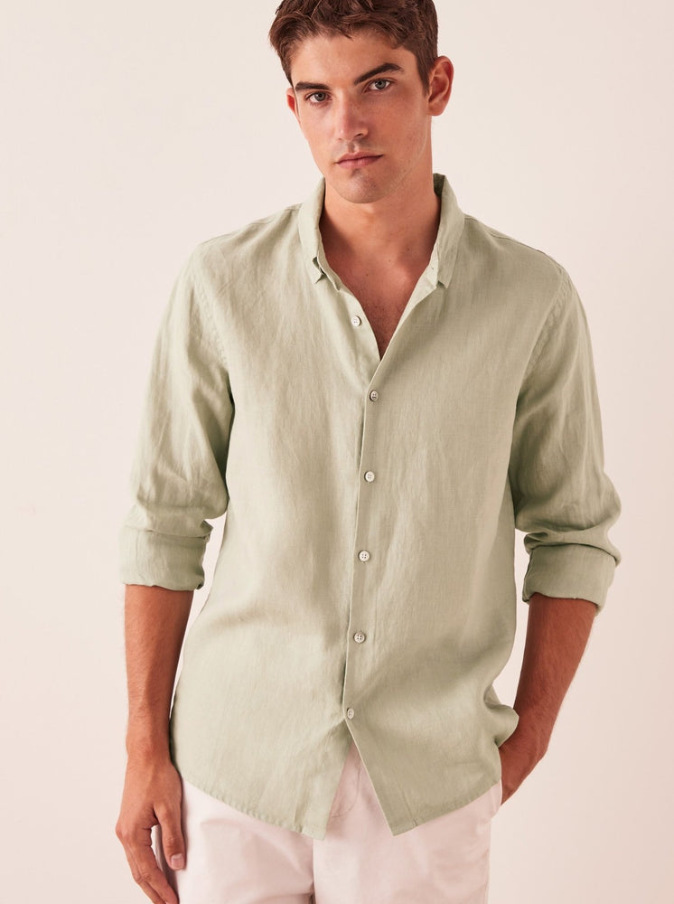 Assembly - Casual Long Sleeve Shirt in Soft Green