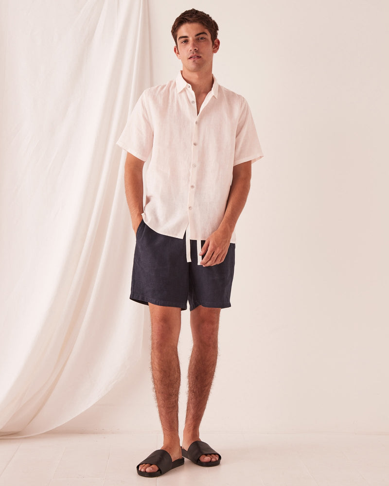 Assembly - Casual Short Sleeve Shirt in Pink Dew