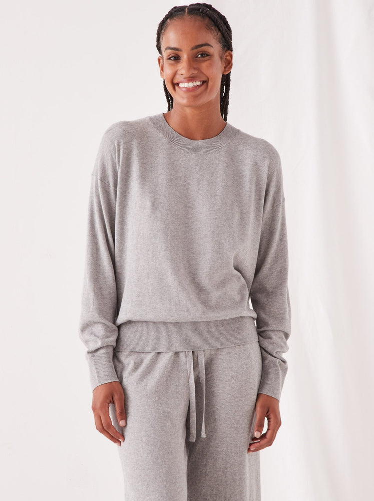 Assembly - Cotton Cashmere Lounge Sweater - Grey Marle