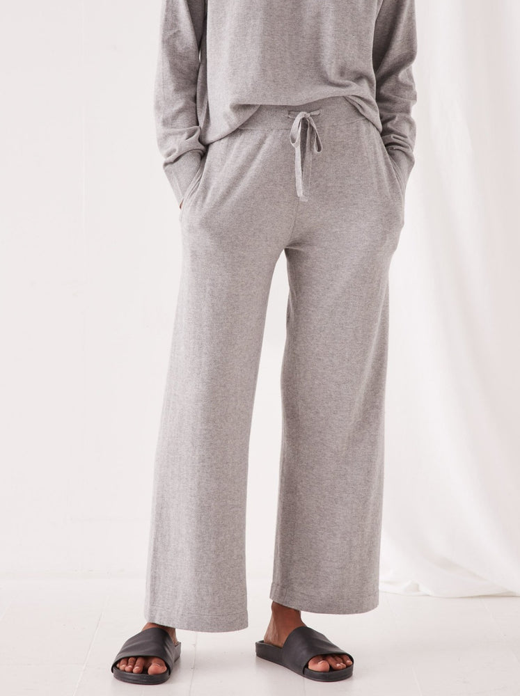 Assembly - Cotton Cashmere Wide Leg Pant - Grey Marle