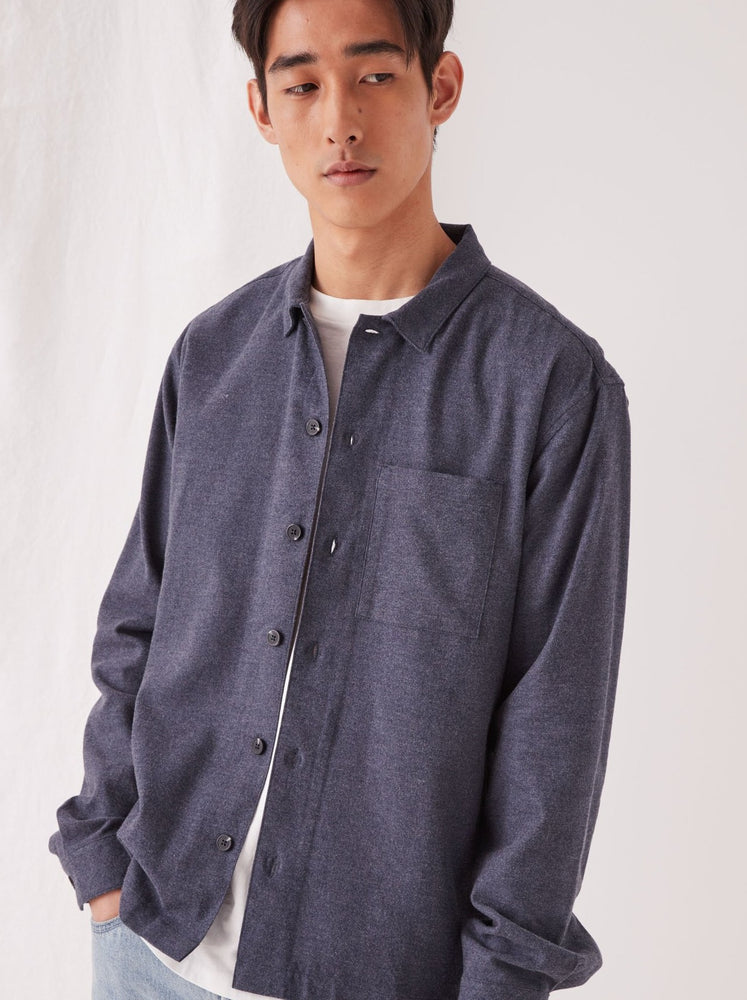 Assembly - Flannel Overshirt - Denim Marle