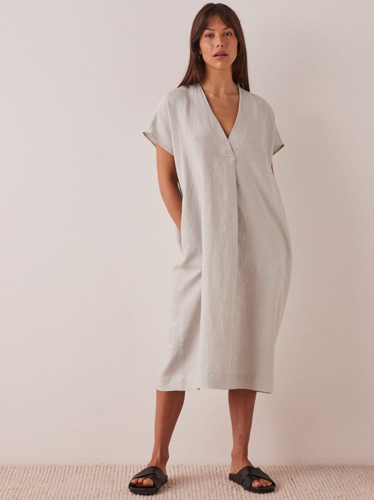 Assembly - Freya Linen Dress in Green Mist