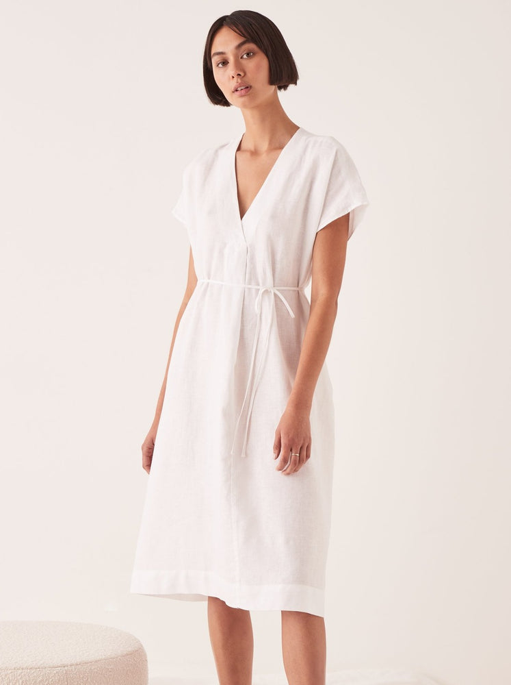 Assembly - Freya Linen Dress in White