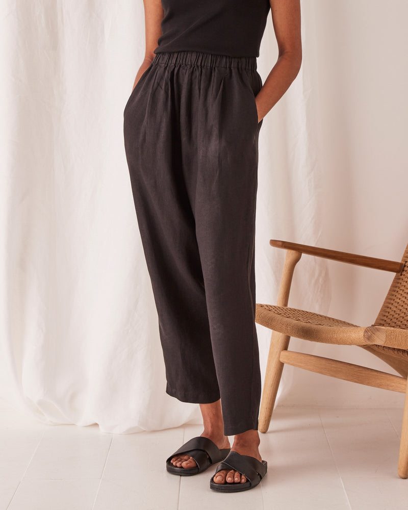 Assembly - Noma Linen Pant - Black