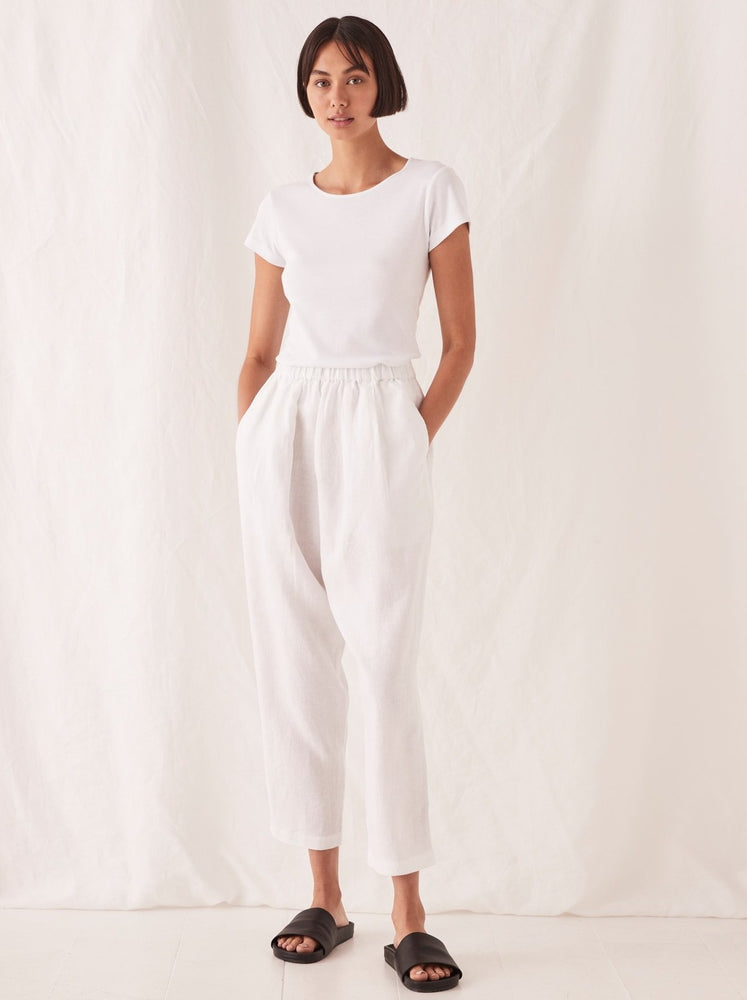 Assembly - Noma Linen Pant in White
