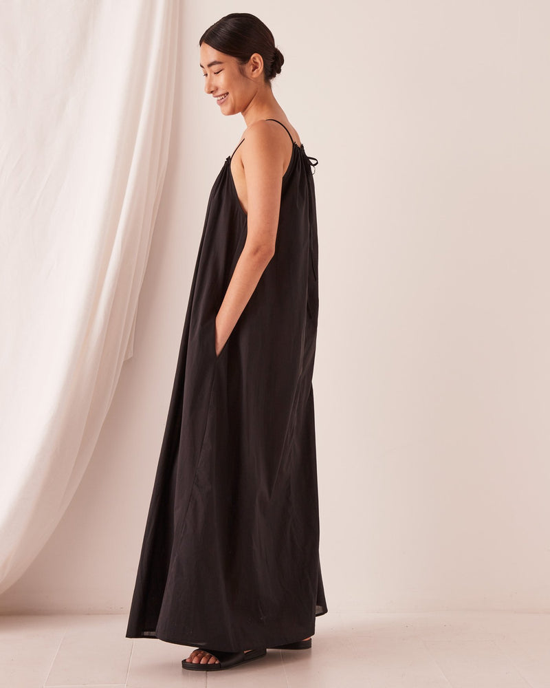 Assembly - Voile Maxi Dress in Black
