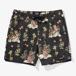 Banks Journal - Jared Mell Elastic Boardshort in Dirty Black