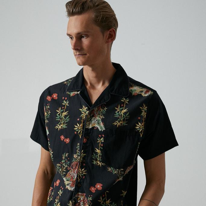 Banks Journal - Jared Mell S/S Shirt in Dirty Black