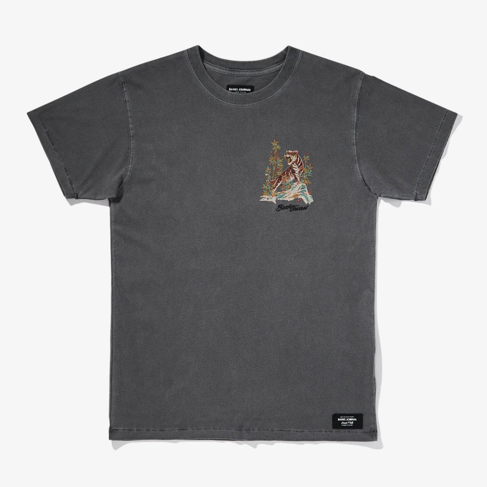Banks Journal - Jared Mell Tiger Tee in Dirty Black