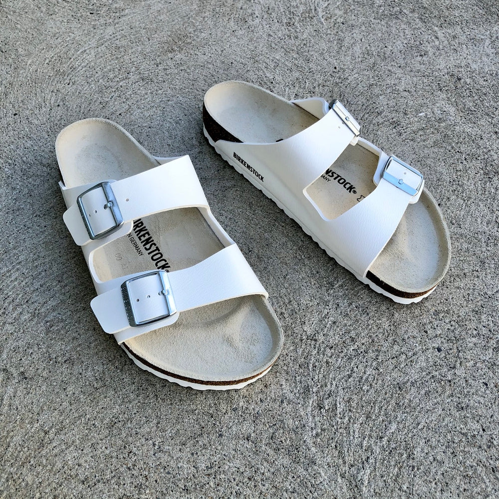 Birkenstock - Arizona - Natural Leather - White - Regular