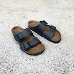 Birkenstock - Arizona - MF (vegan) - Pull Up Anthracite - Regular
