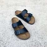 Birkenstock - Arizona - Smooth Leather - Black - Regular