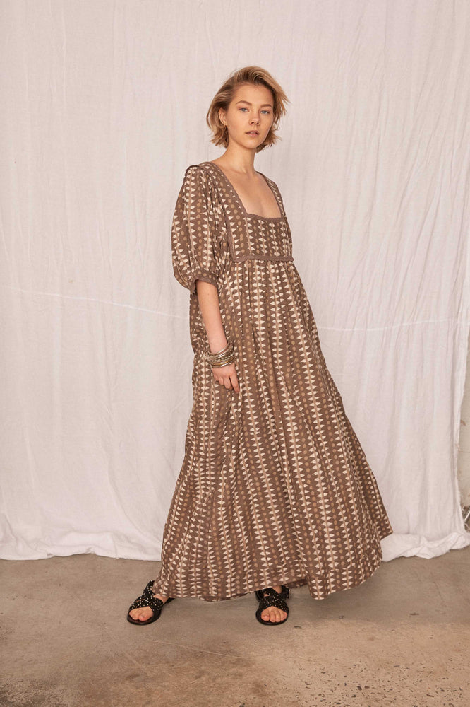 Kinga Csilla - Block Print Maxi in Sand Stone Mix