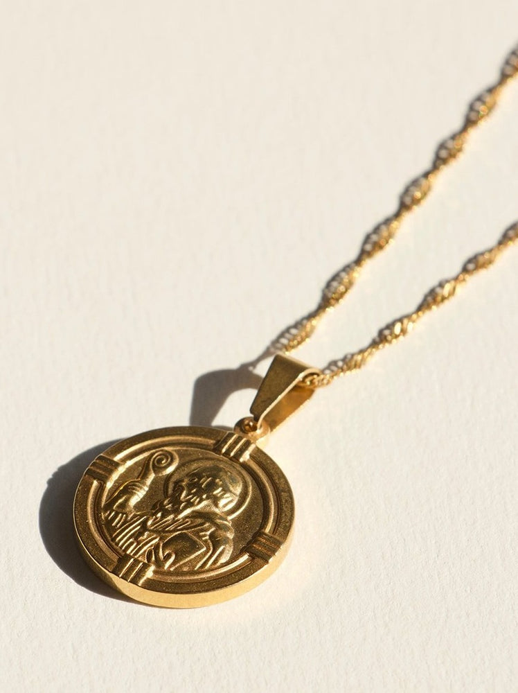 Brie Leon - Saint Christopher Necklace in Gold (45-50cm)