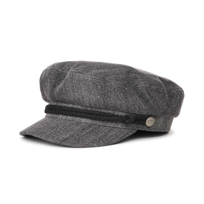 Brixton - Fiddler Cap in Black Acid Wash