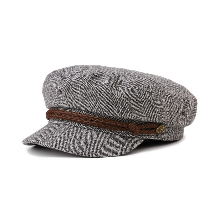 Brixton - Fiddler Cap in Heather Grey/Cream
