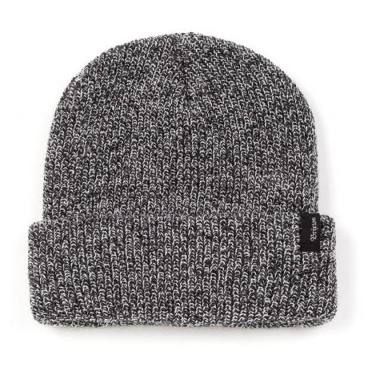 Brixton - Heist Beanie in Black/Heather Grey