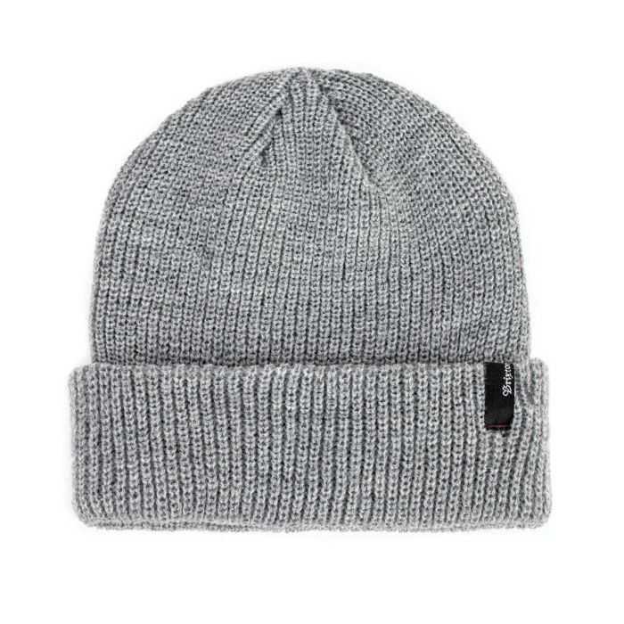 Brixton - Heist Beanie in Light Heather Grey