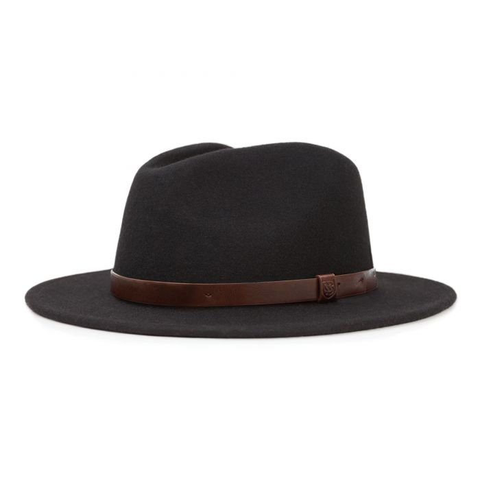 Brixton - Messer Fedora in Black/Tan