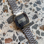 Casio - Vintage Digital Backlight, Alarm, S/Watch Blk Dial, Gun Grey S/Steel Band - A168WGG-1A