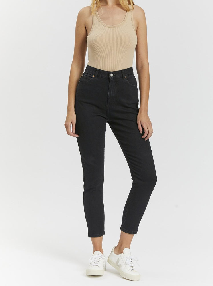 Dr Denim - Nora Jean - Washed Black Stretch