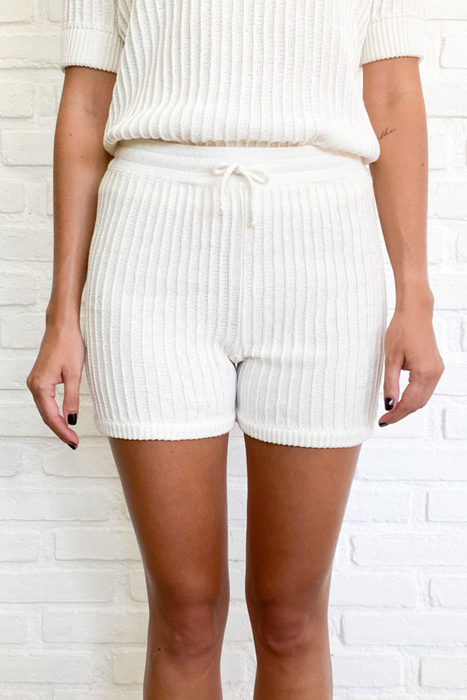 Rue Stiic - Evy Knit Short in White