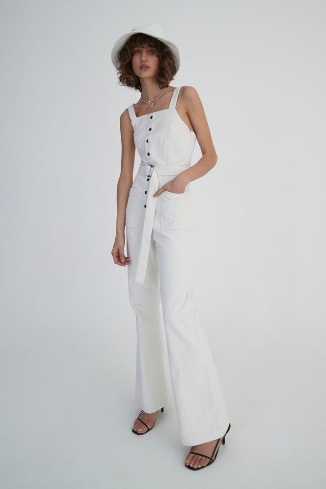 Hansen & Gretel - Ziggy Jumpsuit in White