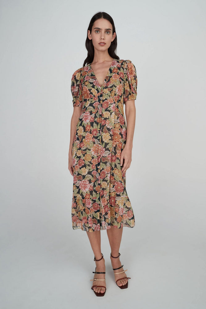 Hansen & Gretel - Gracie Silk Dress in Wallflower