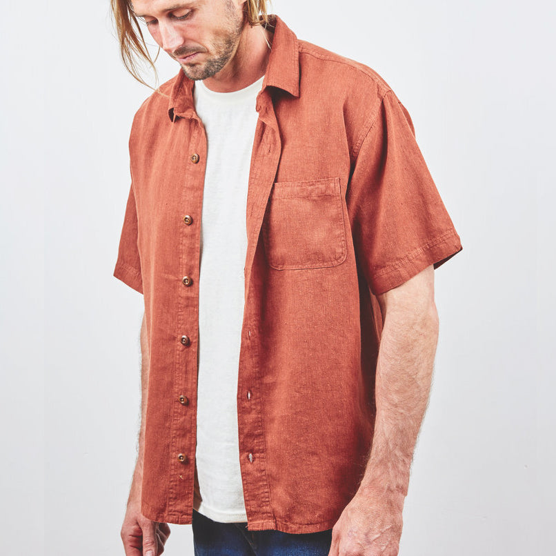 Hemp Clothing Australia - Midtown Shirt Rustic Brown