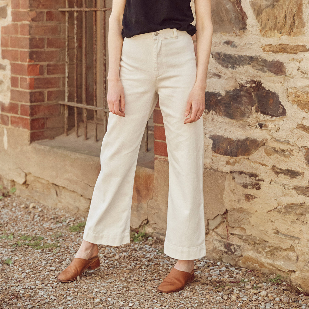 Hemp Clothing Australia - Newport Pant - Natural