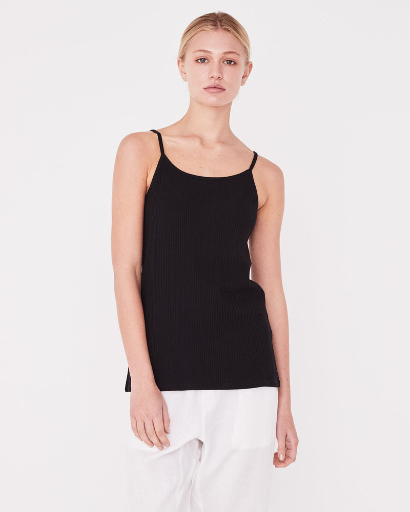 Assembly - Daily Rib Singlet in Black