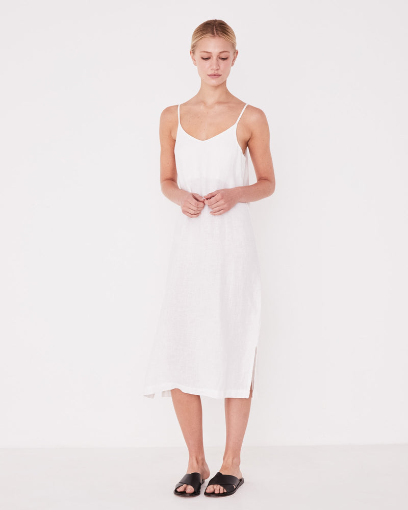 Assembly - Linen Slip Dress - White