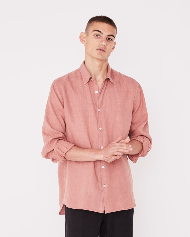 Assembly - Casual long Sleeve Shirt in Cameo Pink