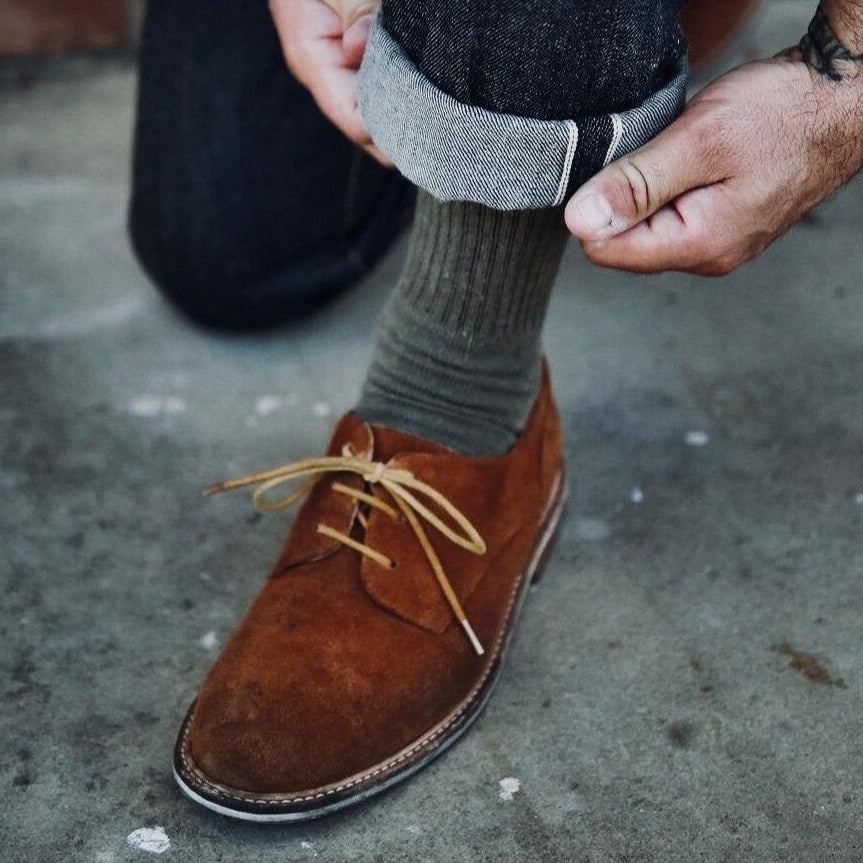 Hemp Clothing Australia - Crew Socks Thick in Military