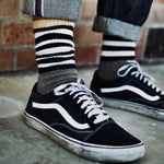 Hemp Clothing Australia - Crew Socks Thick - Stripes