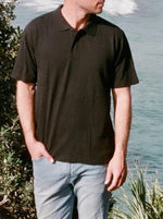 Hemp Clothing Australia - Polo Shirt in Black