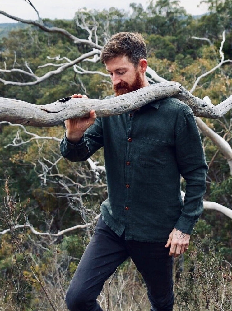 Hemp Clothing Australia - Heritage Shirt in Military Green