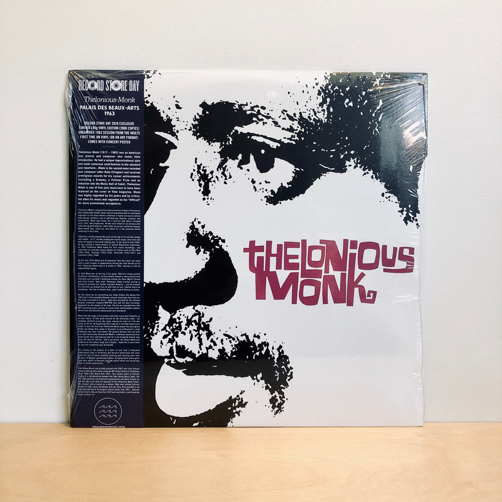 "RSD DROPS 1 - Thelonious Monk - Palais Des Beaux 1963. 12"" [Ltd Ed. 2000 copies on 180g Vinyl w/ Poster]"