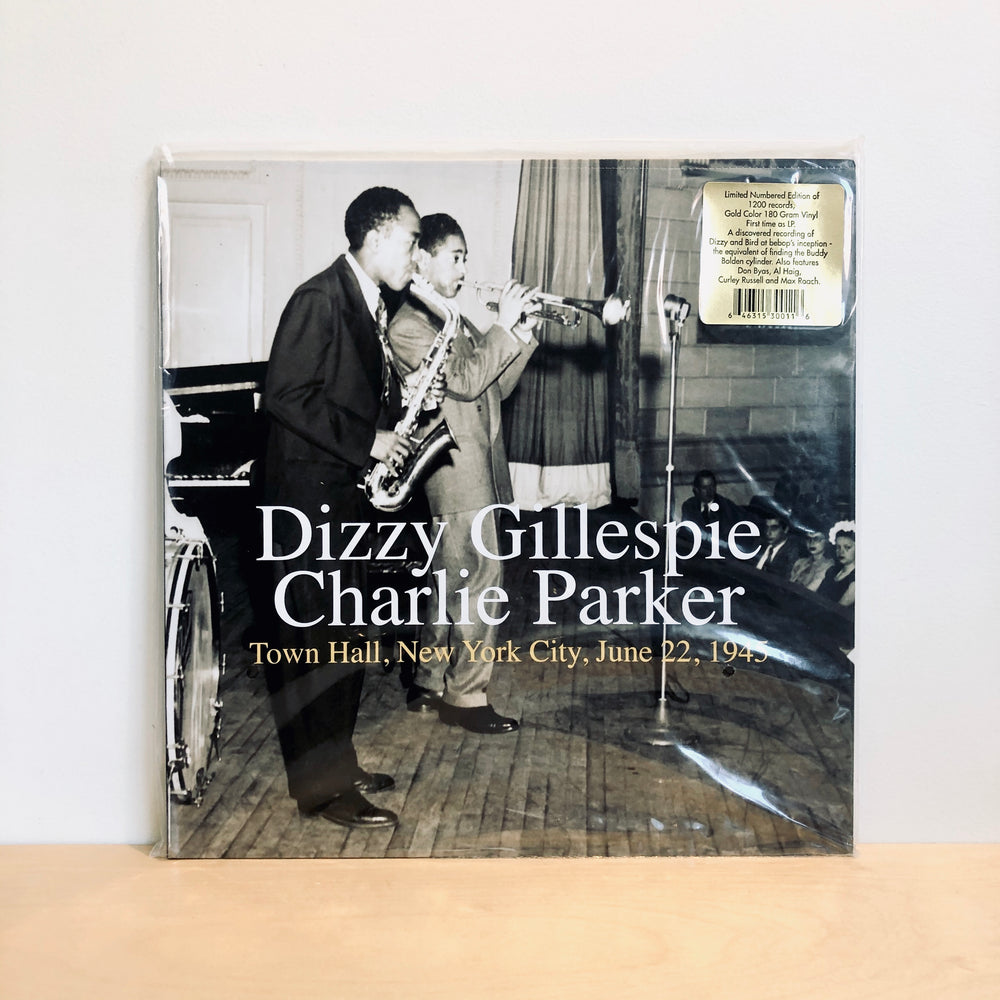 RSD DROPS 1 - Dizzy Gillespie/Charlie Parker - Town Hall, New York City, June 22, 1945. LP [Ltd Ed. 1200]