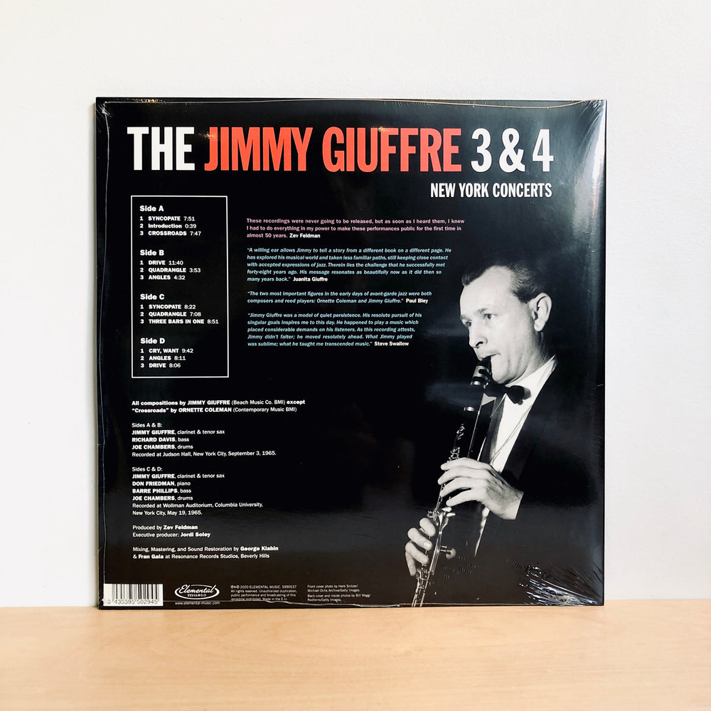 RSD DROPS 2 - Jimmy Giuffre - 3 & 4 : New York Concerts. 2LP/180gram