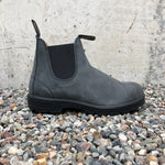 Blundstone - 587 Elastic Sided V Cut Boot Rustic Black Leather