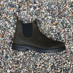 Blundstone - 1615 Elastic Sided V-Cut Boot Olive Suede