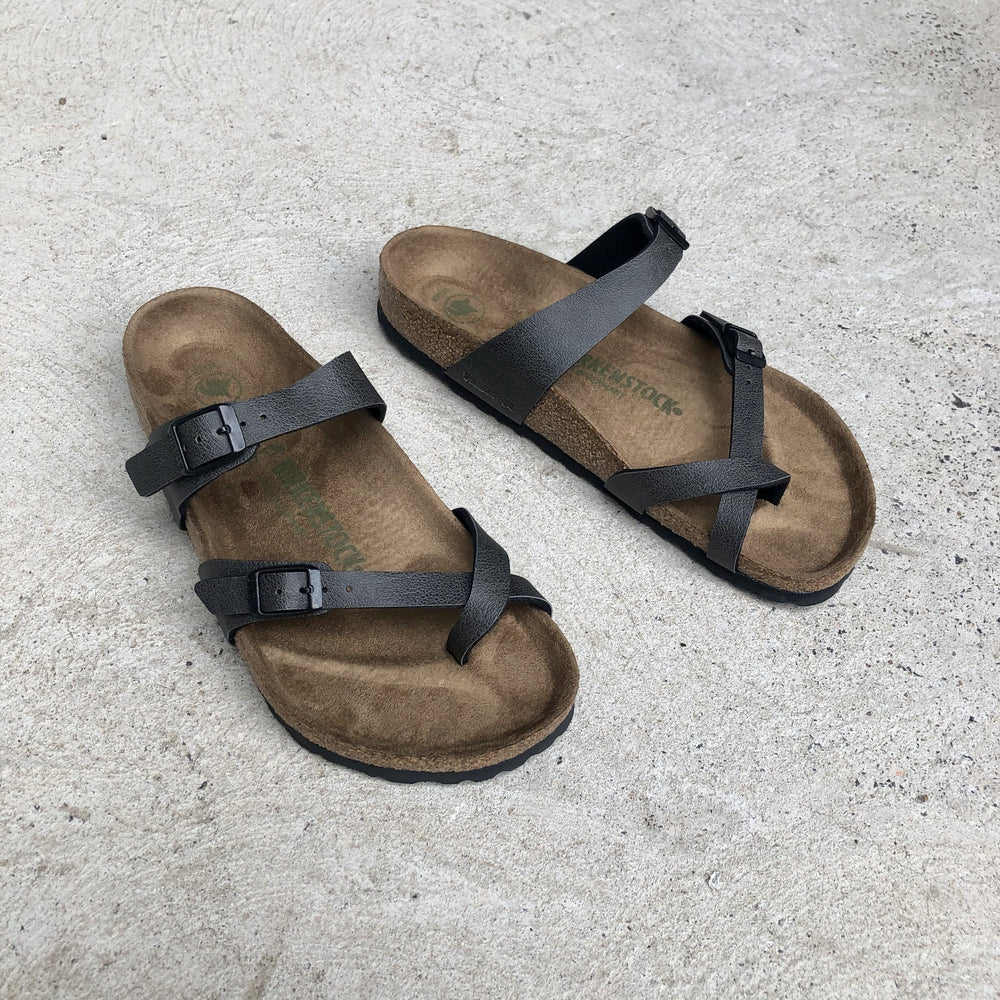 Birkenstock - Mayari - Birko Flor Pull Up in Anthracite (Vegan)- Regular